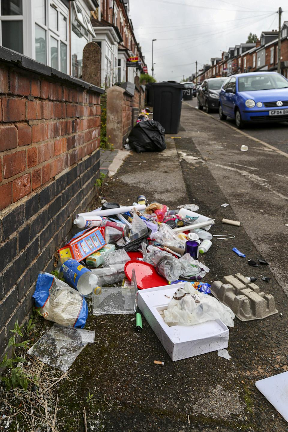 Rubbish was strewn across the streets. (SWNS)
