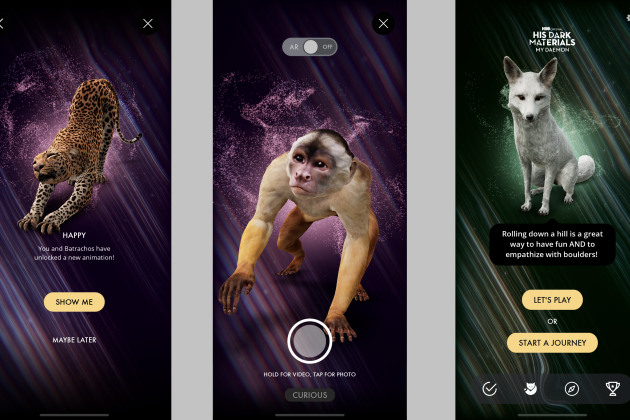 HBO 'His Dark Materials' App Features Your Own Virtual AR Daemon That Encourages Self-Care