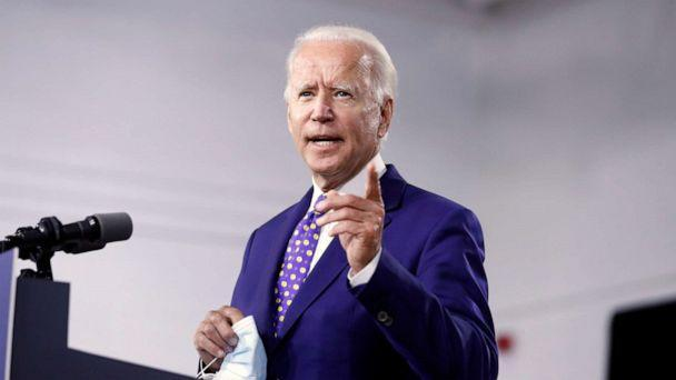 PHOTO: Joe Biden speaks at a campaign event at the William 'Hicks' Anderson Community Center in Wilmington, Del., July 28, 2020. (Andrew Harnik/AP Photo)