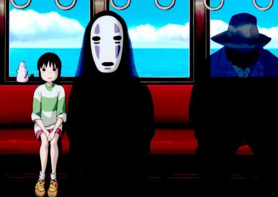 Chihiro and No Face in Studio Ghibli's 'Spirited Away' (W Disney/Everett/Rex)