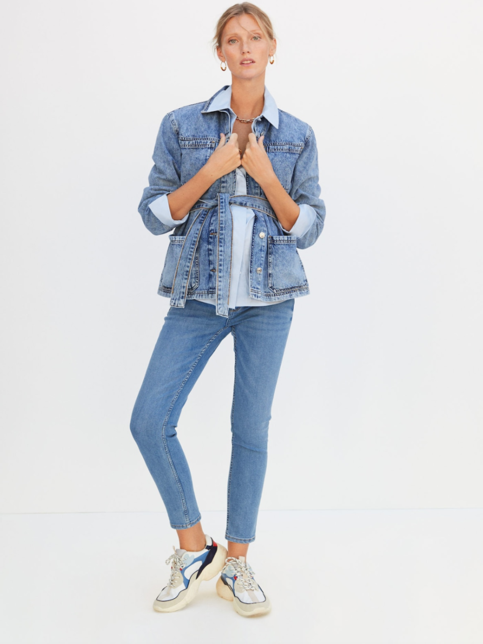 """<p>Second time around? Find classic everyday pieces at <a href=""""https://shop.mango.com/gb/women/featured/maternity-wear_d17213663"""" rel=""""nofollow noopener"""" target=""""_blank"""" data-ylk=""""slk:Mango"""" class=""""link rapid-noclick-resp"""">Mango</a> perfect for nursing a bump while already running around after a toddler. Yep, the struggle is real - but here's a no-fuss fashion brand with a small but perfectly formed range that helps you to look and feel better whilst doing it. </p><p>We love the easy, <a href=""""https://shop.mango.com/gb/women/jeans-skinny/mid-rise-jeans_87051003.html"""" rel=""""nofollow noopener"""" target=""""_blank"""" data-ylk=""""slk:stretch over-bump denim"""" class=""""link rapid-noclick-resp"""">stretch over-bump denim</a> for chic, outdoors mamas.</p><p><a class=""""link rapid-noclick-resp"""" href=""""https://go.redirectingat.com?id=127X1599956&url=https%3A%2F%2Fshop.mango.com%2Fgb%2Fwomen%2Ffeatured%2Fmaternity-wear_d17213663&sref=https%3A%2F%2Fwww.womenshealthmag.com%2Fuk%2Fhealth%2Fg36261049%2F16-best-maternity-clothes-and-brands-for-trendy-bumps%2F"""" rel=""""nofollow noopener"""" target=""""_blank"""" data-ylk=""""slk:SHOP NOW"""">SHOP NOW</a></p>"""