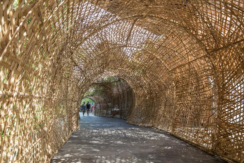 Lamb wasn't the only designer to be inspired by bamboo. Here, Nano Uhero's tunnel.