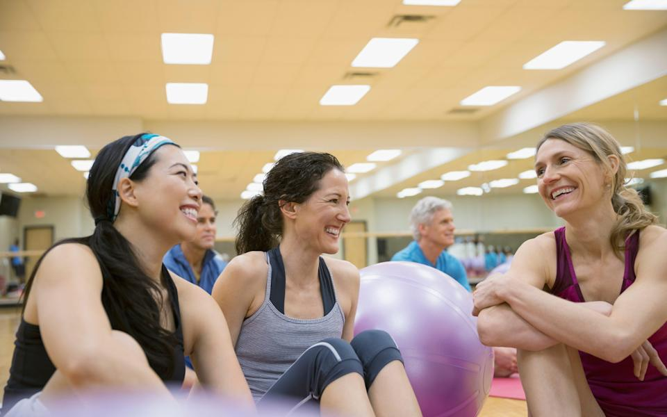 A study of stressed medical students found that group exercise was far more effective than working out alone  - This content is subject to copyright.