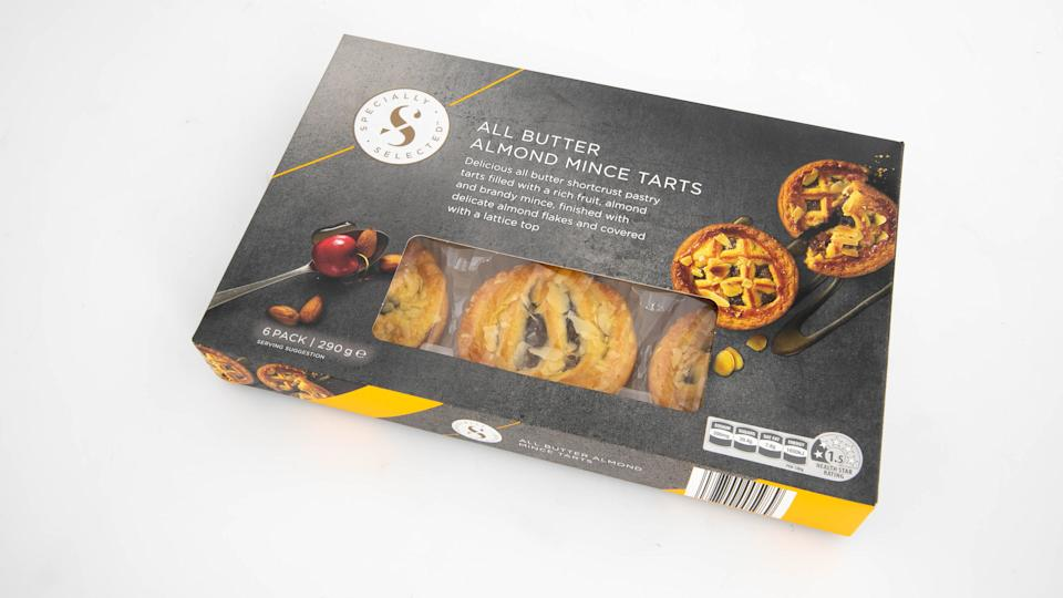 Aldi Specially Selected All Butter Almond Mince Tarts. Photo: Supplied