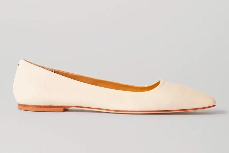 flats, square toe, white, aeyede