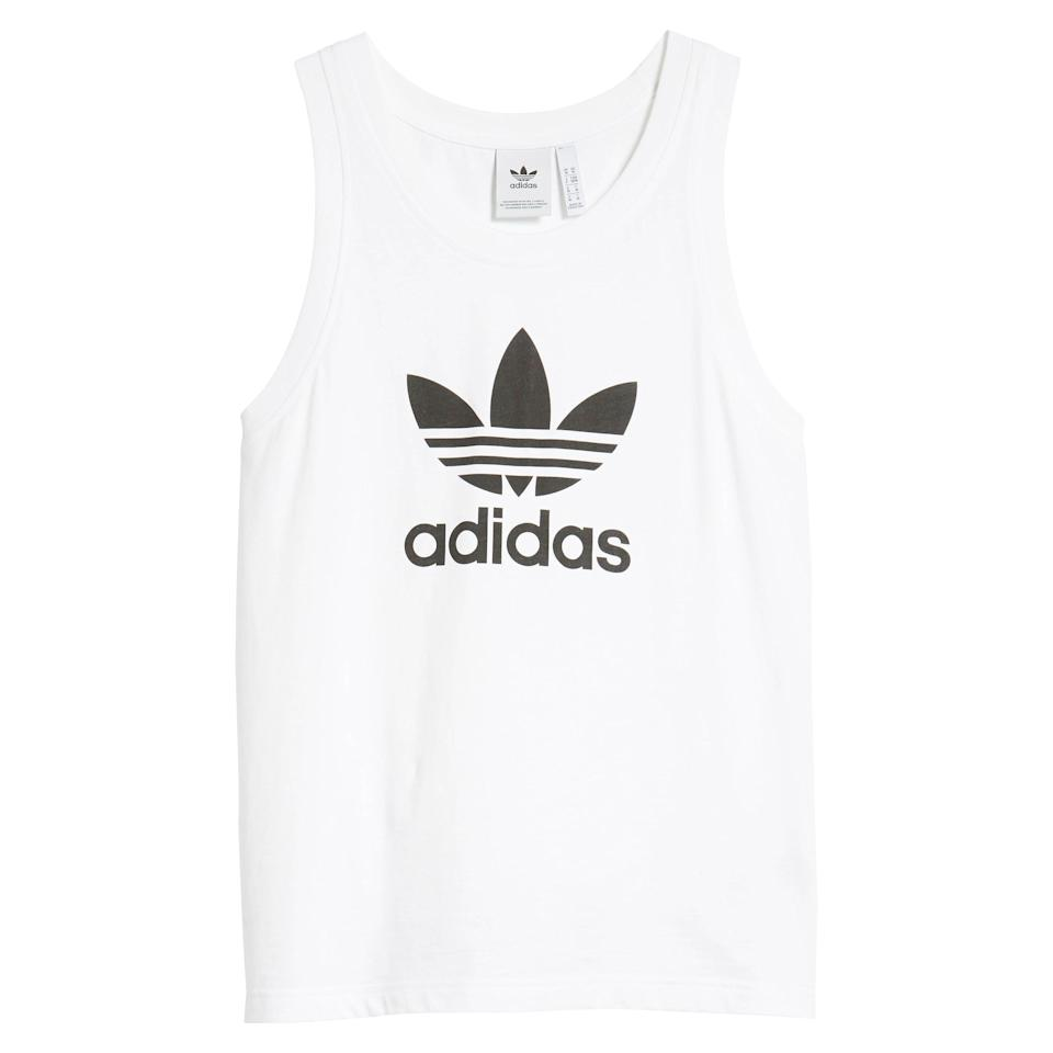"<p><strong>Adidas Originals</strong></p><p>nordstrom.com</p><p><strong>$28.00</strong></p><p><a href=""https://go.redirectingat.com?id=74968X1596630&url=https%3A%2F%2Fwww.nordstrom.com%2Fs%2Fadidas-originals-trefoil-tank%2F5832987&sref=https%3A%2F%2Fwww.esquire.com%2Fstyle%2Fmens-fashion%2Fg36028652%2Fbest-mens-tank-tops%2F"" rel=""nofollow noopener"" target=""_blank"" data-ylk=""slk:Shop Now"" class=""link rapid-noclick-resp"">Shop Now</a></p><p>Like I said: If you're gonna go graphic, go classic. And it doesn't get much more classic than Adidas's Trefoil logo. </p>"