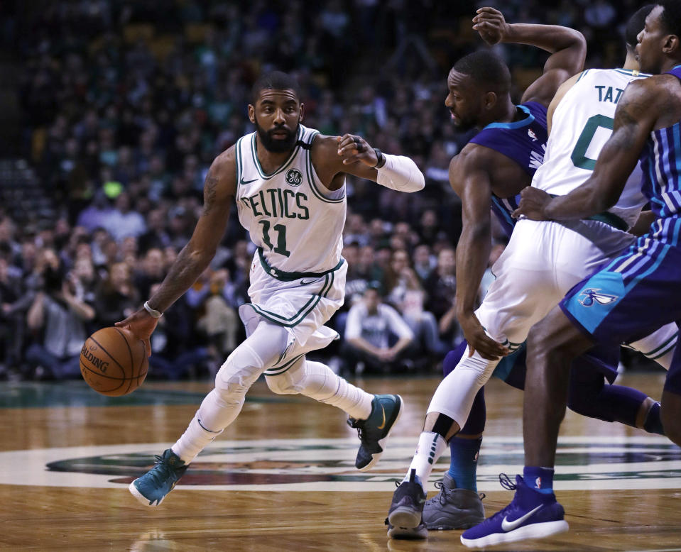 Kyrie Irving had the Celtics rolling on Wednesday night. (AP)