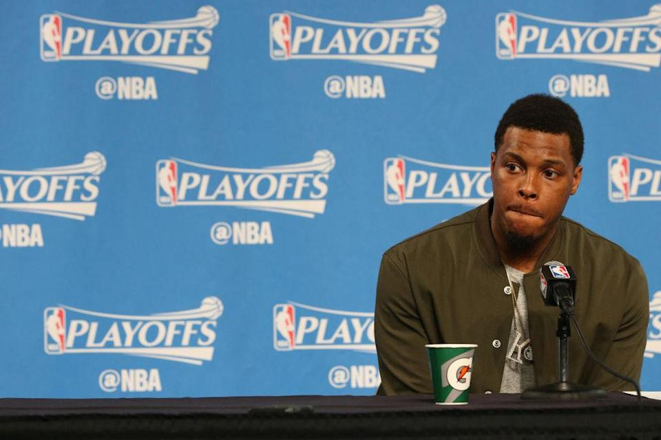 Kyle Lowry and the Raptors have had no answers for the Cavs through two games. (Getty Images)