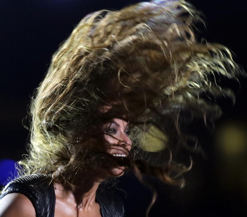 Beyonce electrifies at Super Bowl halftime show