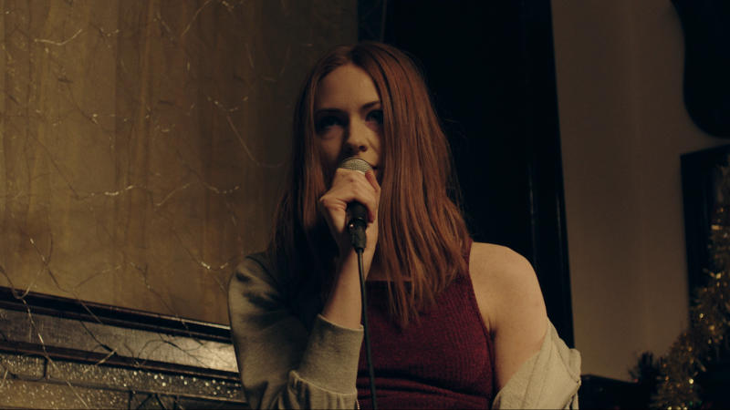 Karen Gillan in 'The Party's Just Beginning'. (Credit: Blue Finch Film)