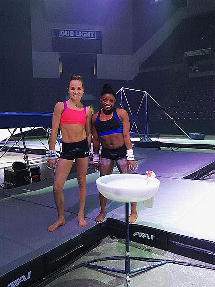 e9211280ed407 Simone Biles and Madison Kocian Are Already Back to Training After Olympics  – This Time for Their National Tour