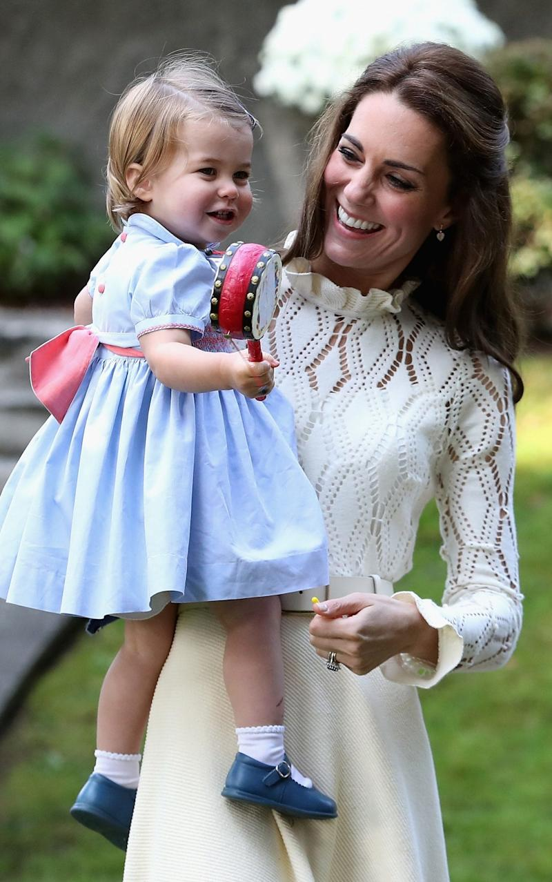 Princess Charlotte at a children's party in Canada last year