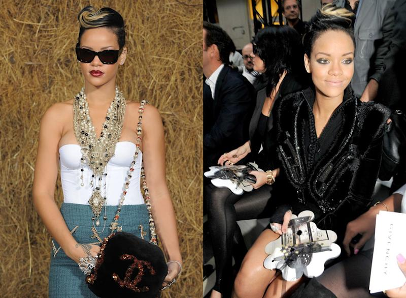 Rihanna at Chanel Spring 2010; at Givenchy Spring 2010