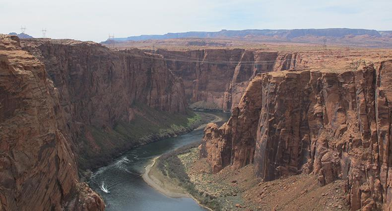 The Colorado River from the Glen Canyon Dam Overlook is pictured.