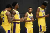"""""""Let's just check Twitter to see if LeBron has tried to trade us yet."""" — the new young Lakers, possibly"""