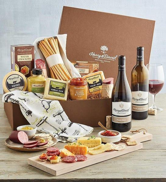 Harry & David wine and cheese box, gifts for her