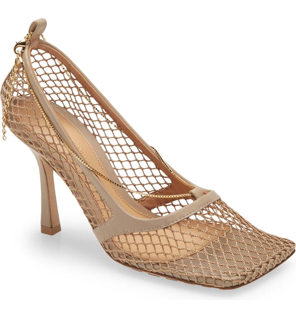 <p>This glam <span>Bottega Veneta Décolleté Stretch Pump</span> ($1,020) will turn heads wherever you go. It's a stunning, statement-making piece you won't regret investing in.</p>