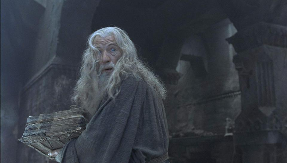 Ian McKellen as Gandalf. (Credit: New Line Cinema)