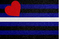 """<p>Another fetish flag, this one was created by Tony DeBlase, a prominent member of the leather and BDSM communities.</p><p>""""For the 20th anniversary of Stonewall I felt that the time was right for the Leather men and women who have been participating in these same parades and events more and more visibly in recent years, to have a similar simple, elegant banner that would serve as a symbol of their own identity and interests,"""" <a href=""""https://leatherarchives.org/the-leather-pride-flag"""" rel=""""nofollow noopener"""" target=""""_blank"""" data-ylk=""""slk:DeBlase said"""" class=""""link rapid-noclick-resp"""">DeBlase said</a> of his decision to make the flag.</p>"""