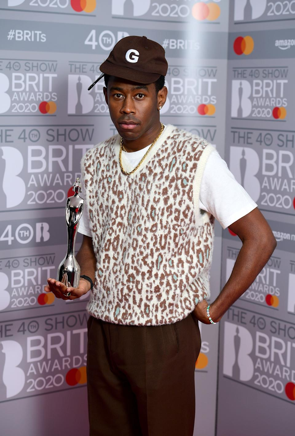 Tyler, The Creator won Best International Male at the Brits (Photo: Ian West - PA Images via Getty Images)