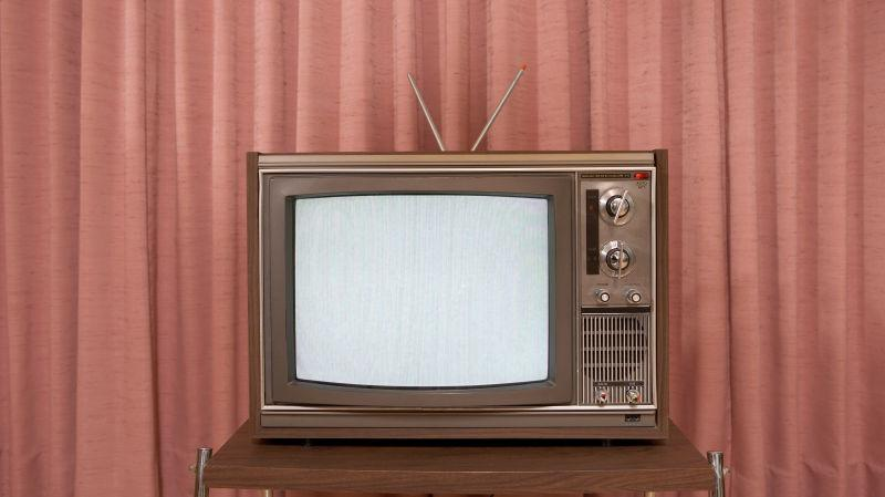 A blank television set