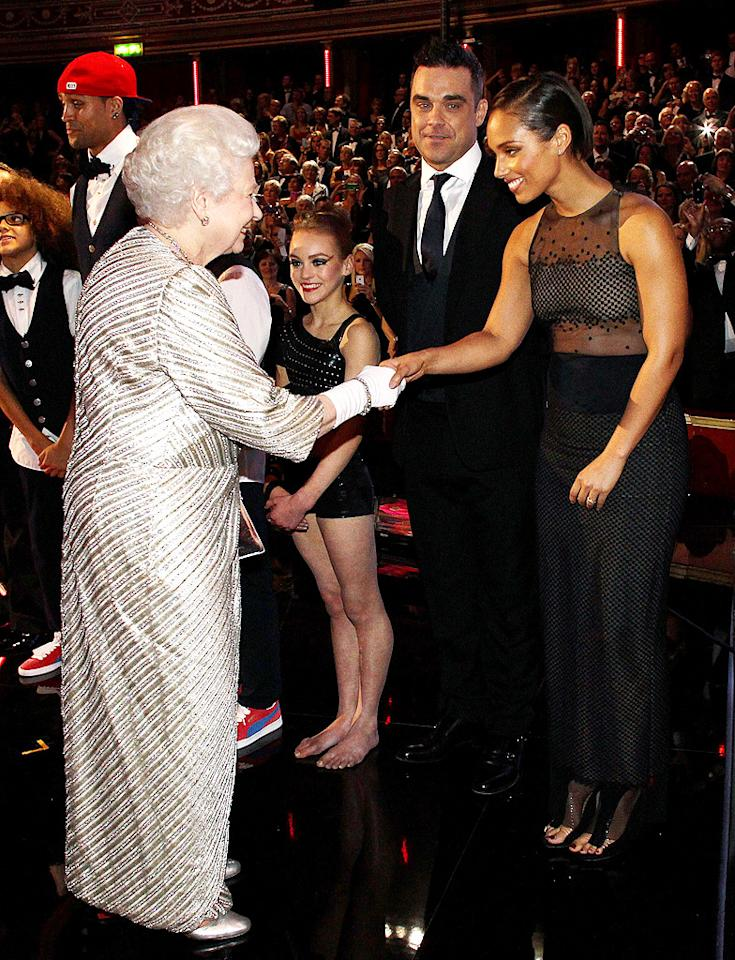 50950022 The Queen of England and Prince Phillip at the Royal Albert Hall for the 2012 Royal Variety Performance in London, England on November 19th, 2012. The Queen of England and Prince Phillip at the Royal Albert Hall for the 2012 Royal Variety Performance in London, England on November 19th, 2012.