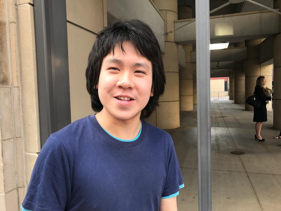 Amos Yee after his release from detention in Chicago in 2017.