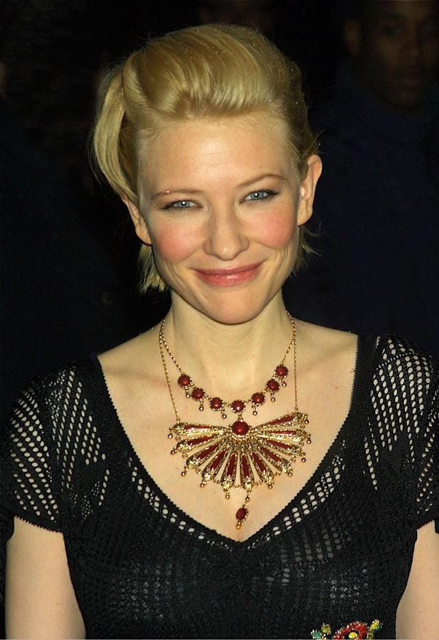 <p>Cate Blanchett attends the National Board of Review Awards Gala Jan. 7, 2002, in New York. (Photo: George De Sota/Getty Images) </p>