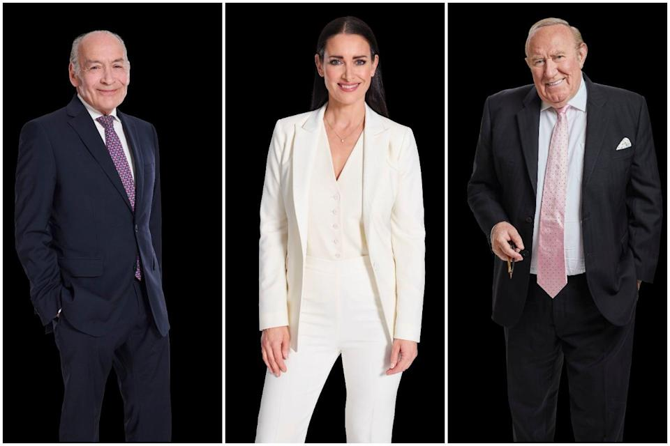 Alastair Stewart Kirsty Gallacher and Andrew Neil (PA)