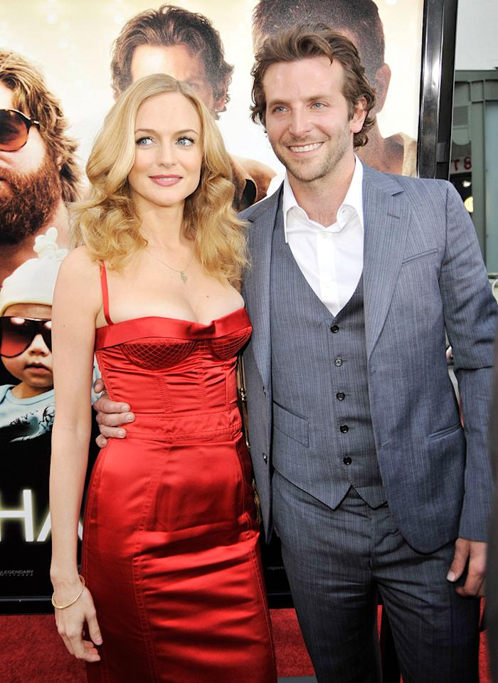 """<a href=""""http://movies.yahoo.com/movie/contributor/1800018677"""">Heather Graham</a> and <a href=""""http://movies.yahoo.com/movie/contributor/1804751131"""">Bradley Cooper</a> at the Los Angeles premiere of <a href=""""http://movies.yahoo.com/movie/1810044687/info"""">The Hangover</a> - 06/02/2009"""