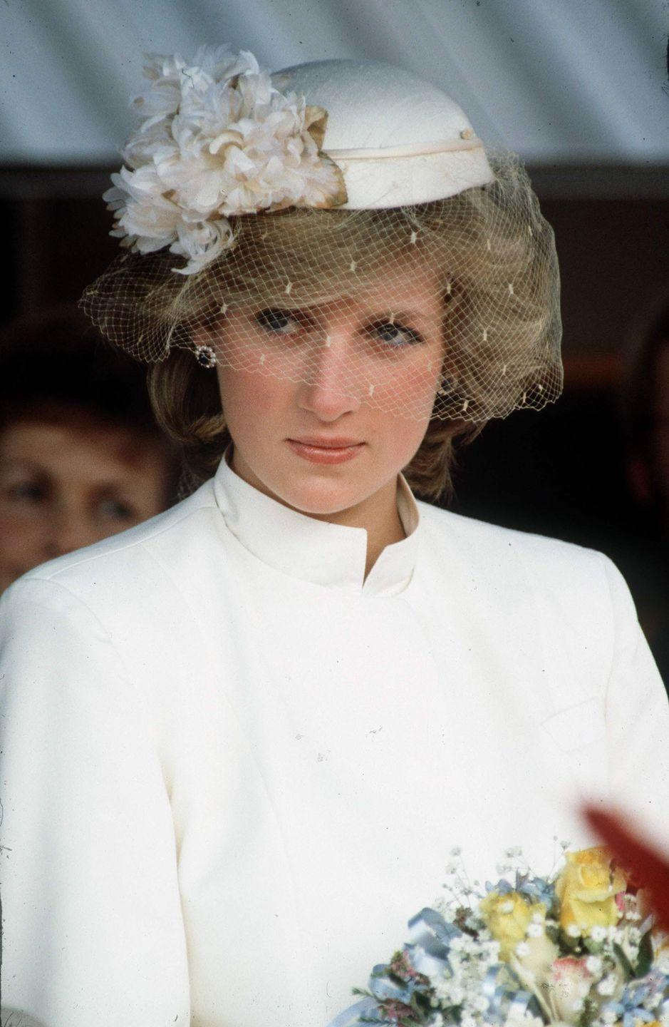 <p>In a white outfit and matching hat in Tasmania. </p>