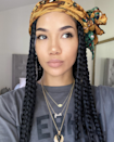 "To ensure your braids stay intact and don't frizz, you should sleep on a <a href=""https://www.glamour.com/gallery/best-silk-pillowcases?mbid=synd_yahoo_rss"" rel=""nofollow noopener"" target=""_blank"" data-ylk=""slk:silk pillowcase"" class=""link rapid-noclick-resp"">silk pillowcase</a> and/or wear a silk scarf at night. But as Jhené Aiko demonstrates here, the scarf doesn't have to just be designated to the bedroom. Wear it out of the house to accessorize your look."