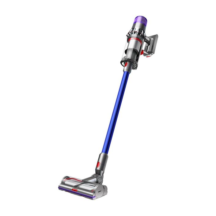 """The priciest of the Dyson vacs—which is kind of a feat—this model did not come to play. It offers double the suction power of any cordless vacuum (!) and up to an hour of run time, so you can bust the dust out of every nook and cranny in one charge. Plus, its """"smart"""" head adapts the suction and power level to the floor you're working with, so you can go from hardwood to tile to carpet without ever having to switch it out attachments. $753, Amazon. <a href=""""https://www.amazon.com/Dyson-Torque-Cordless-Vacuum-Cleaner/dp/B07NX8XBMP"""" rel=""""nofollow noopener"""" target=""""_blank"""" data-ylk=""""slk:Get it now!"""" class=""""link rapid-noclick-resp"""">Get it now!</a>"""