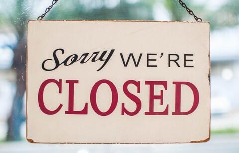closed sign - Credit: Getty Images