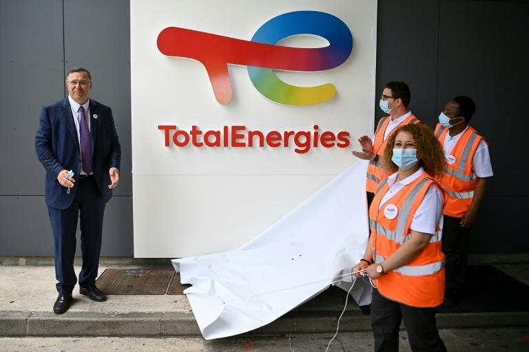 """Total CEO Patrick Pouyanne says the company's new name marks its desire to become a """"major actor in energy transition""""."""