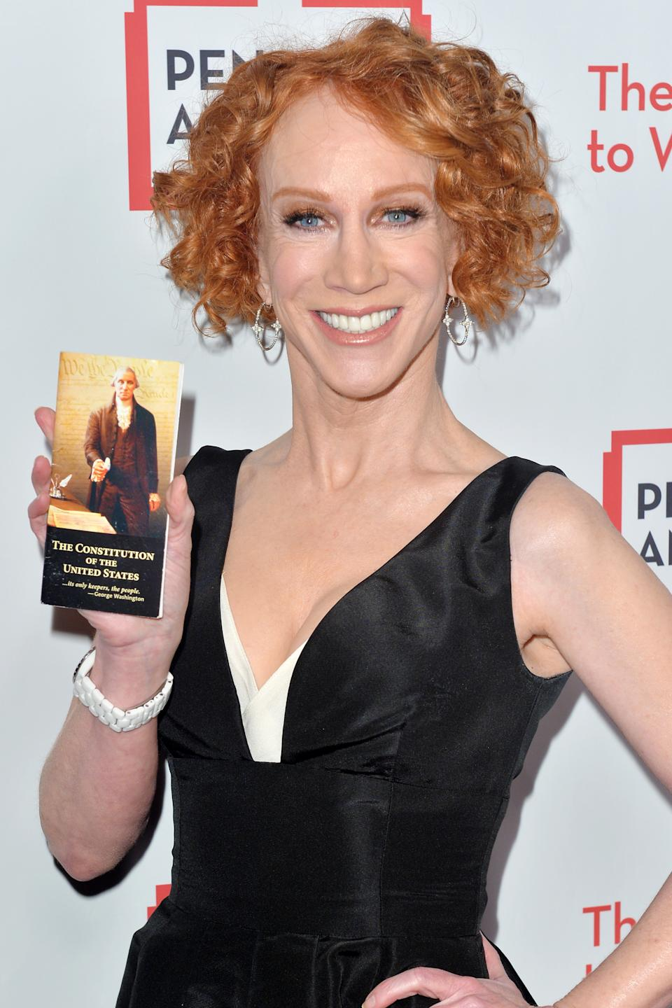 BEVERLY HILLS, CALIFORNIA - NOVEMBER 01: Kathy Griffin arrives at Pen America's 2019 Litfest Gala at the Beverly Wilshire Four Seasons Hotel on November 01, 2019 in Beverly Hills, California. (Photo by Jerod Harris/Getty Images)
