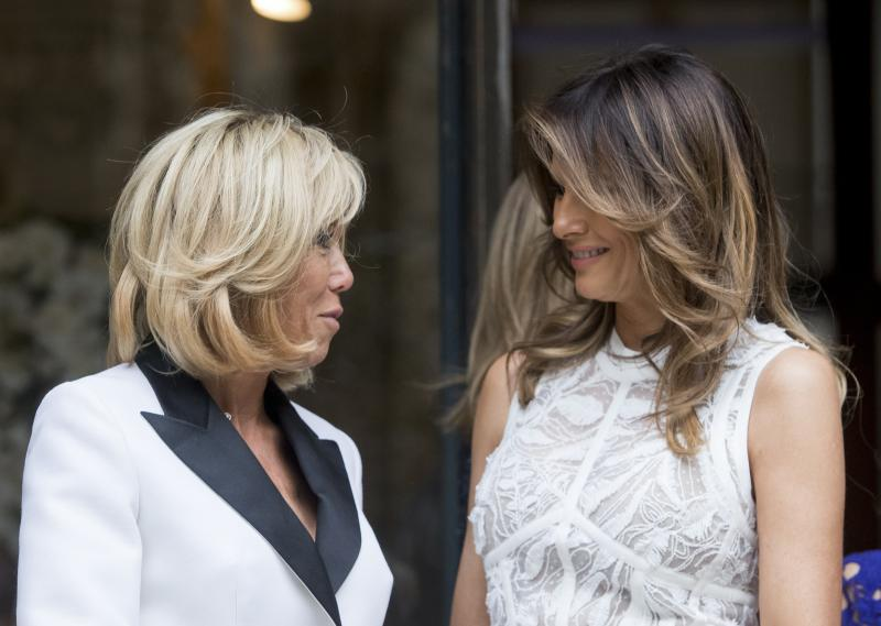 US first lady welcomed in Belgium with music and fashion