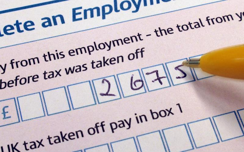 A Self Assessment form Tax Return from HM Revenue and Customs (HMRC), as a study has found that men are significantly more likely than women to try to evade paying tax. - PA/PA