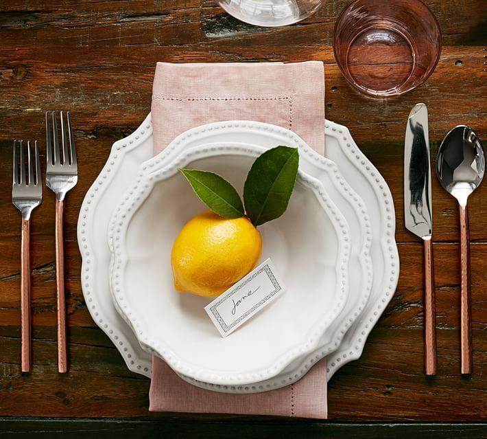 "<p>potterybarn.com</p><p><strong>$200.00</strong></p><p><a href=""https://go.redirectingat.com?id=74968X1596630&url=https%3A%2F%2Fwww.potterybarn.com%2Fproducts%2Fleila-dinnerware-set-white%2F&sref=https%3A%2F%2Fwww.housebeautiful.com%2Fentertaining%2Fholidays-celebrations%2Fg22778748%2Fthanksgiving-dinnerware%2F"" rel=""nofollow noopener"" target=""_blank"" data-ylk=""slk:BUY NOW"" class=""link rapid-noclick-resp"">BUY NOW</a></p><p>Keep it simple for Thanksgiving and the rest of the holiday season (and really, just about any hosting occasion) with this white dinnerware—the scalloped shape and stitched rim give it some extra flair. <br></p>"