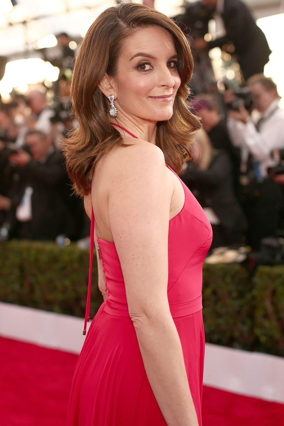 """<p><strong>Born</strong>: Elizabeth Stamatina Fey</p><p>Tina is actually a shorted version of the actress and comedian's middle name, Stamatina. Interestingly, Fey's <em>30 Rock</em> persona, Liz Lemon, is actually <a href=""""https://www.vogue.com/13300396/celebrities-who-changed-their-name/"""" rel=""""nofollow noopener"""" target=""""_blank"""" data-ylk=""""slk:a nod to her birth name"""" class=""""link rapid-noclick-resp"""">a nod to her birth name</a>, Elizabeth.</p>"""