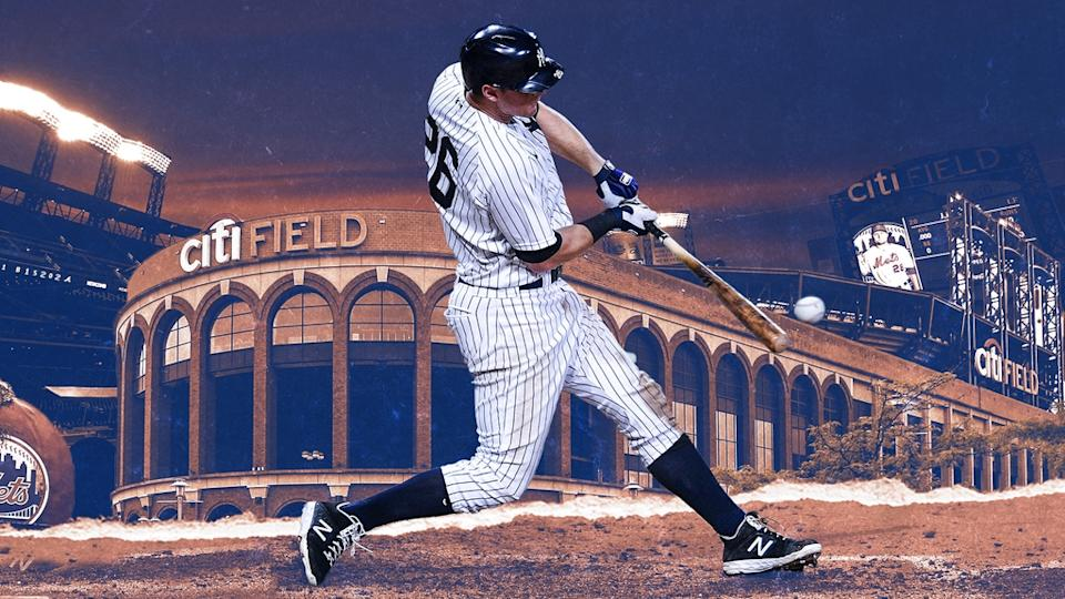 DJ LeMahieu in front of Citi Field TREATED ART