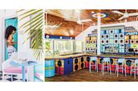 """<p><strong>Negril, Jamaica</strong></p> <p>Eclectically vibrant, from its whitewashed concrete walls and Art Deco–style bamboo paneling to its Italian modernist outdoor furniture and midcentury-modern decor in 32 guest rooms, this sassy arrival on white-sand Seven Mile Beach is a low-key luxury getaway with a pure Jamaica color palette to match. The signage—echoing the logo of the eponymous 1960s Buick automobile—is a nod to the sun-drenched glory days of the West End while punning on the songbird of the same name and Jamaican slang for engaging in shenanigans. Other alluring shenanigans include the record-album-cover-lined <a href=""""https://skylarknegril.com/eat/"""" rel=""""nofollow noopener"""" target=""""_blank"""" data-ylk=""""slk:Miss Lily's"""" class=""""link rapid-noclick-resp"""">Miss Lily's</a>, a celebrated Caribbean restaurant that got its start in New York City, a complimentary cleansing foot ritual at the Skylark Spa, and a devotion to showcasing Jamaican musicians both over the speakers and in live performances. Rates start at $95; <a href=""""https://skylarknegril.com/"""" rel=""""nofollow noopener"""" target=""""_blank"""" data-ylk=""""slk:skylarknegril.com"""" class=""""link rapid-noclick-resp"""">skylarknegril.com</a>.</p>"""