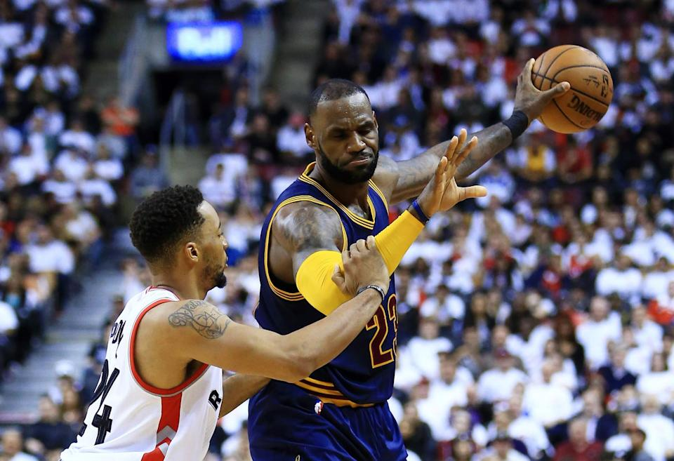 LeBron James has had about enough of the Raptors, thanks. (Getty Images)
