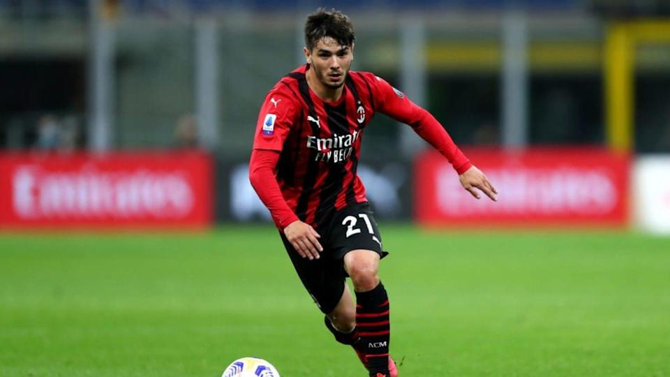 Brahim Diaz of Ac Milan in action during the Serie A match... | Marco Canoniero/Getty Images