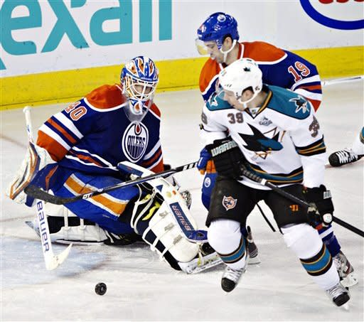 Couture, Boyle lift Sharks past Oilers, 4-3