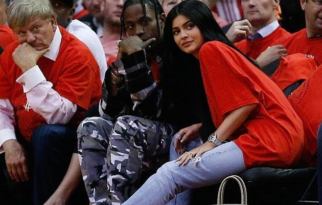 Kylie and her alleged baby-daddy Travis Scott. Source: Getty
