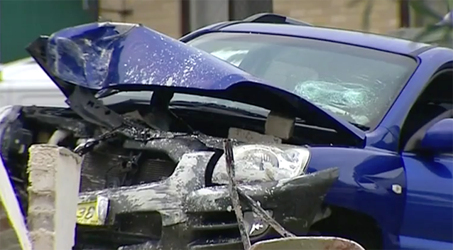 The man allegedly ran his car into Talla Faavala. Source: 7 News