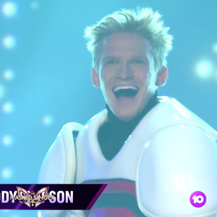 A photo of The Masked Singer season one winner Cody Simpson.