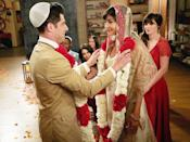 """<p><b>This Season's Theme:</b> """"Growing up without growing apart,"""" says executive producer Brett Baer. <br><br><b>Where We Left Off:</b> Schmidt (Max Greenfield) and Cece (Hannah Simone) got hitched, while Nick (Jake Johnson) took things to the next level with Reagan (Megan Fox). And Jess (Zooey Deschanel) realized she might still have romantic feelings for Nick. <br><br><b>Coming Up:</b> Expect some shifts in the loft after Reagan returns later this season. """"We have some episodes that deal with her impending arrival and what it's going to be like once Reagan moves in with Nick in the loft, and whether or not the roommates are OK with that,"""" says Baer. But if you're thinking: love triangle, EP Dave Finkel tells us that's not how <i>New Girl</i> rolls. """"Love triangles over here are tricky,"""" he says. """"The thing between Nick and Jess is always at the core of the show, [but] we think of it more as a friend triangle."""" Also coming up: <i>New Girl</i> will cross over with <i>Brooklyn Nine-Nine</i> when the crew travels to the Big Apple for a one-hour mashup in October. <br><br><b>House of Horrors:</b> Schmidt and Cece don't want to be """"married with roommates,"""" so they'll hunt for a place of their own. """"It's not going well because Aly's younger sister, Leslie, is the real estate agent and she's not a good real estate agent,"""" Baer says. """"It causes all sorts of problems. They actually do manage to buy a house, but it's a real fixer-upper. It's somewhere between a fixer-upper and condemned."""" <i>– Victoria Leigh Miller</i> <br><br>(Credit: Adam Taylor/Fox)</p>"""