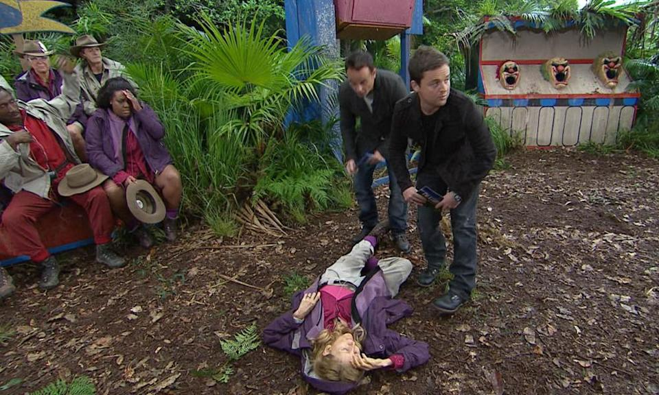 Gillian McKeith faints on I'm A Celebrity... Get Me Out Of Here.